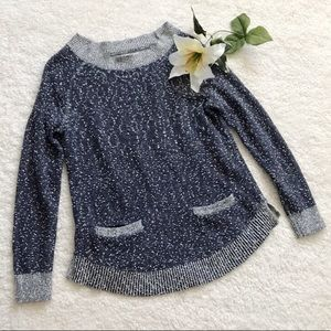 Lou & grey knit Blue Pocket pullover  Sweater